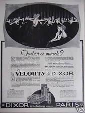 PUBLICITÉ LA VELOUTY DE DIXOR QUEL EST CE MIRACLE - DESSIN HENRI FAIVRE