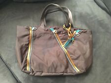 MARC BY MARC JACOBS BROWN AND COPPER TRIM NYLON TOTE DOUBLE HANDLE NEW NO TAGS