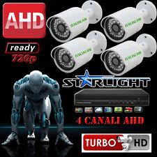 KIT VIDEOSORVEGLIANZA VISIONE NOTTURNA A COLORI - DVR + 4 3000MPX + HD SATA