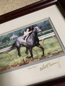 """1994 HOTY """"Holy Bull"""" framed print - Celeste Susany Signed"""