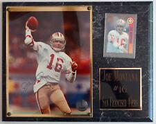"Joe Montana San Francisco 49ers Plaque 15"" X 12"" AUTOGRAPHED and CERTIFIED."