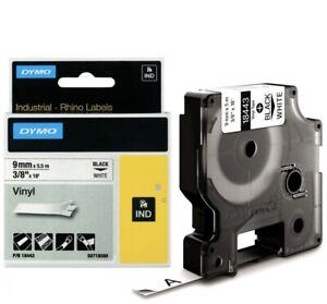 DYMO RHINO Vinyl-Schriftband schwarz/gelb 12 mm x 5, 5 m 18432 0071701184320 #23