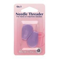 Hemline Sewing Plastic Handle Needle Threader Machine