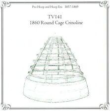 Sewing Pattern for Victorian Civil War round cage crinoline hoop skirt TV141