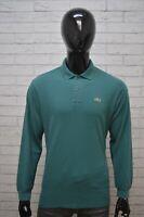 LACOSTE Polo Uomo Maglia Taglia 5 ( XL ) Maglietta Manica Lunga Shirt Man Casual