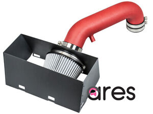 Ares Red Cold Air Intake Kit with heat shield for 09-18 Dodge Ram 1500/Ram 2500/