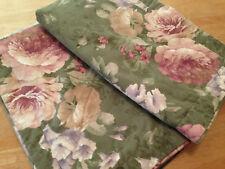 JC Penney Pink Green Floral King Shams (2) USA Made Beige Lavender