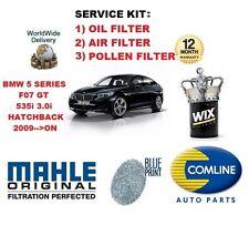 pour BMW Série 5 F07 GT 535 3.0 2009> a Huile Air Filtre à Pollen KIT DE SERVICE