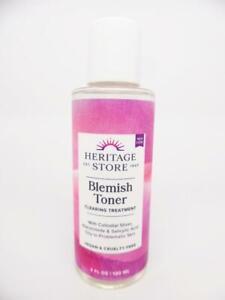 Heritage Store Blemish Toner Acne Treatment, Salicylic Acid & Niacinamide, 4 oz.