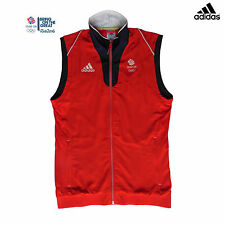 ADIDAS TEAM GB 2016 RIO OLYMPICS ELITE ATHLETE RED VEST GILET Size 32/34