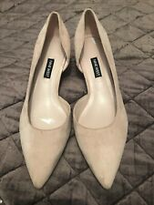 🌸Nine West Womens Fiacre Leather Pointed Heels in Suede Nude 5.5 - Tried on🌸