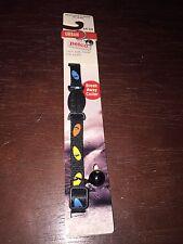 NEW Petco Urban Black W/ Yellow/Blue Cat Eyes Nylon Breakaway Cat Collar