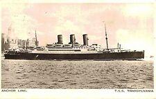 R.M.S.Transylvania,3-Stack Ocean Liner,Postcard,Anchor Line,Used,Paquebot,1938