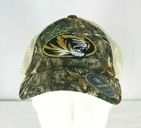 Missouri Tigers Adult Top of the World  Realtree Sentury Camo Cap Snapback