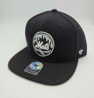 New York Mets hat black '47 Brand Snapback Baseball Cap MLB new adjustable