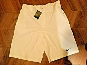 "BNWT Nike 24"" Inch Tennis Shorts - White -XL Long -GYM RUNNING DRI-FIT"