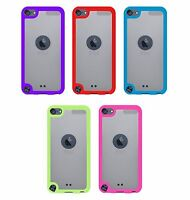 For iPod Touch 5th 6th 7th Gen - 2 Pack Hard & Soft Rubber Hybrid Rugged Case