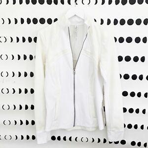 NWT Lululemon Define Jacket Size 10 White Flocked Lace Luxtreme Thumbholes