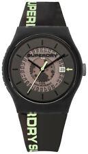 Superdry Urban Semi Opaco Reloj De Hombre syg168b Análogo SILICONA NEGRO