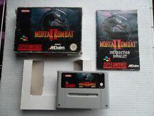 Jeu Super Nintendo / Snes Game Mortal Kombat 2 Complet PAL Eur CIB retrogaming*