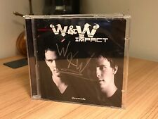 *SIGNED* W&W - Impact CD ALBUM (2011, Armada Music) 2 DISC. nwyr,asot,mainstage