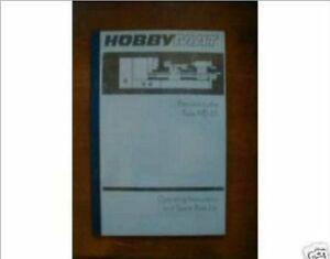 Hobbymat MD65 Lathe/Mill Manual (Worldwide Shipping)