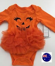 Newborn Girl Baby Pumpkin TUTU Tulle ruffle Halloween Party Costume Romper PROP