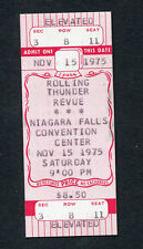 Bob Dylan 1975 Rolling Thunder Revue Unused Concert Ticket Blood On The Tracks