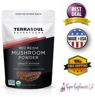 ORGANIC RED REISHI MUSHROOM EXTRACT POWDER 4:1 5.5 Oz Gluten Free Non GMO
