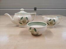 Susie Cooper production - teapot, milk jug and sugar bowl - Art Deco