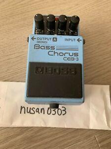 BOSS CEB-3 Bass Chorus Bass Guitar Effect Pedal from japan