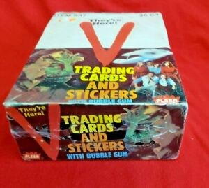 1984 FLEER V WAX BOX