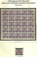 U.S 1933 A.P.S. S/S Scott #731 Unused on Mystic Page WYSIWYG Lot SEE SCANS