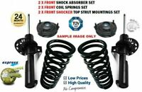 2x FRONT Shockers + Springs + Strut Tops for VW CADDY Box 2.0 SDI 2004-2010