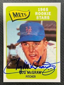 TUG MCGRAW 2001 TOPPS ARCHIVES AUTOGRAPH RC AUTO SP NEW YORK METS 46/170