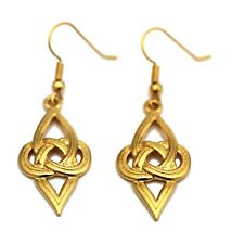 GOLD PLATED CELTIC KNOT WITH V EARWIRE EAERRINGS (8014)