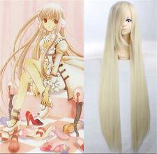 Cosplay Wigs Chobits Eruda Straight Long Light Blonde Halloween Anime Hair Girls