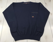 PAUL & SHARK YACHTING Crewneck Pullover Sweater Made in Italy Blue Men's XXL W33