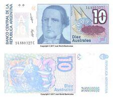 Argentina 10 AUSTRALES ND (1985-89) P-325b Billetes Unc