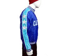Men's Captain America Captain Boomerang Blue Satin Jacket   All Sizes 2XS to 3XL