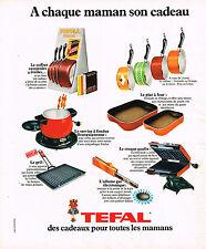 PUBLICITE ADVERTISING 114  1975  TEFAL  ustensils de cuisine cadeaux pour maman