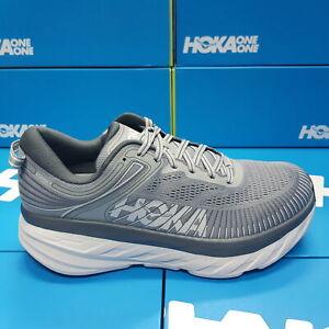 NEW Hoka One One 1117033/WDDS Bondi 7 X-WIDE 4E  Grey Running Shoes For Men's