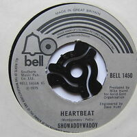 "SHOWADDYWADDY - Heartbeat - Excellent Condition 7"" Single Bell BELL 1450"
