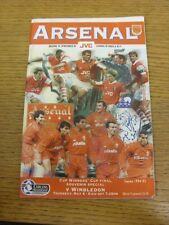 04/05/1995 Arsenal v Wimbledon [Special Cup Winners Cup Cup Final Edition] (mark