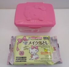 Japanese Makeup Removing Sheets & Case Container SANRIO HELLO KITTY  From JAPAN