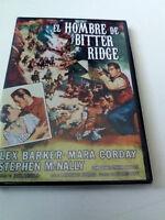 "DVD ""EL HOMBRE DE BITTER RIDGE"" JACK ARNOLD LEX BARKER MARA GORDAY STEPHEN McNAL"