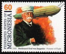 Count Ferdinand Graf von Zeppelin Airship Aircraft Stamp