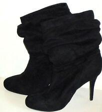 CARLA BlkFauxSuedeStilettoPlatformAnkleBoots Size10NWoT