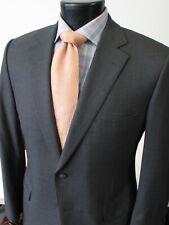 Paul Stuart Suit 40S Short Charcoal Gray Super 150s Wool Flat Front 2 Button