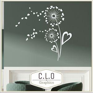 Dandelion Wall Sticker Vinyl Transfer Giant Flower Art Decal Home Decor Graphic